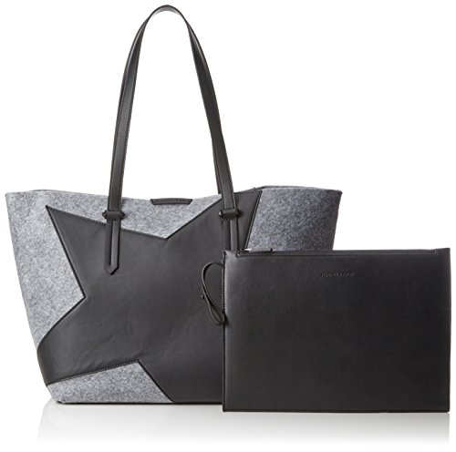 Kendall + Kylie - Izzy Star, Borse Tote Donna Multicolore (Grey - Black)