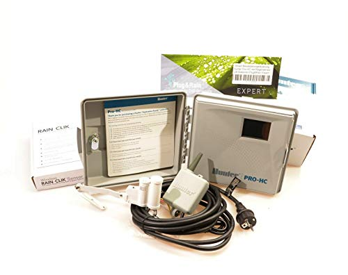 Hc-plug (Plug&Rain Smart-Bewässerungsteuerung, Hunter Pro-HC 24 Stationen mit Funk-Regensensor Expert)