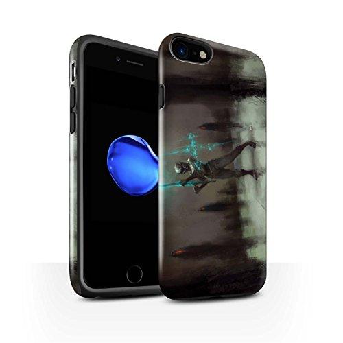 Offiziell Chris Cold Hülle / Glanz Harten Stoßfest Case für Apple iPhone 7 / Pack 5pcs Muster / Unterwelt Kollektion Schatten Ritter