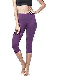 LAPASA Legging avec Poches Capri Pantacourt de Sport Femme Coupe Genoux  Amincissant - Yoga Fitness 2b41a006016