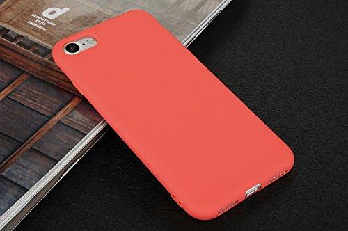 Incendemme Handyhülle für iPhone 6 Plus/ 6s Plus weiche Dünn Mattglasbirne Schutzschale für iPhone mit Einfarbig Design Handytasche aus TPU Handy Hülle Etui cover case (Schwarz) Rot
