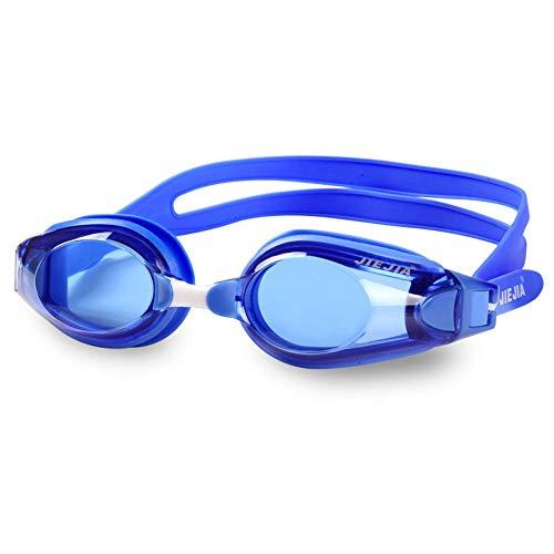 MHP Myopie Schwimmbrille Korrektur Myopie optische Schwimmbrille für männliche, weibliche, Erwachsene Schwimmer ohne Durchsickern und Anti-Fog 100%(Dioptrien -1,5 bis -9,0), blau, -4,5