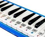 Klavieraufkleber für 32/37 Key Melodica, transparent und ablösbar mit gratis Klavier-ebook - Made in USA
