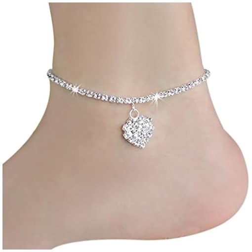 Voberry® 1 Pcs Lady Women New Jewelry Heart Chain Beach Sexy Sandal Anklet Ankle Bracelet