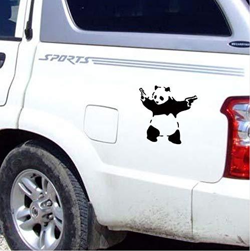 WFYY Panda Auto Aufkleber Carved Vinyl Auto Wasserdicht Kann Entfernt Werden Heizung Wandaufkleber 2 Stücke 10X10 cm