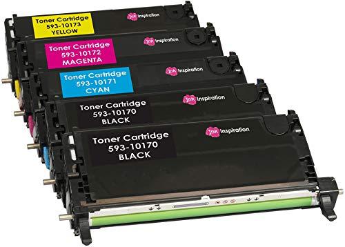 5er Set Premium Toner kompatibel für Dell 3110, 3110cn, 3115, 3115cn | 8.000 Seiten - Dell-3110cn-schwarz-tonerkassette