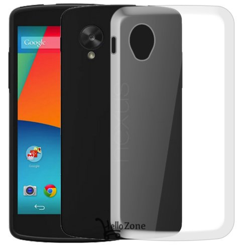 Hello Zone Exclusive Soft Transparent Crystal Clear Back Cover Back Case Cover For LG Nexus 5 LG-D821  available at amazon for Rs.149
