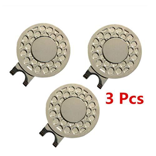HINMAY Magnetischer Golfkappen-Clip, Golfball-Ziel-Marker, professionelles Golf-Training, Zubehör (ca. 25 x 12 mm, 2 Stück/3 Stück/6 Stück) (25 x 12 mm) -