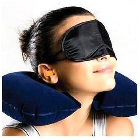 Set da viaggio aereo,macchina,nave,treno,campagna,yoga,mare,spiaggia,composto:cuscino gonfiabile,mascherina occhi, tappi orecchie, di ESW - Sfera Nave