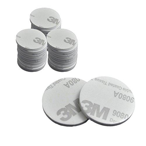 50Stück starkes, doppelseitiges, rundes Schaumstoff-Klebeband von euhuton, weiß Pad-Montagekleber (25mm)