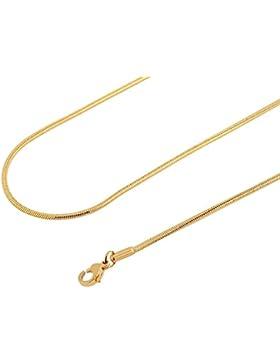 Akzent Edelstahl Schlangenkette Gliederkette Halskette Goldfarbig mit Karabinerverschluss 2400045076 Kettenlänge...
