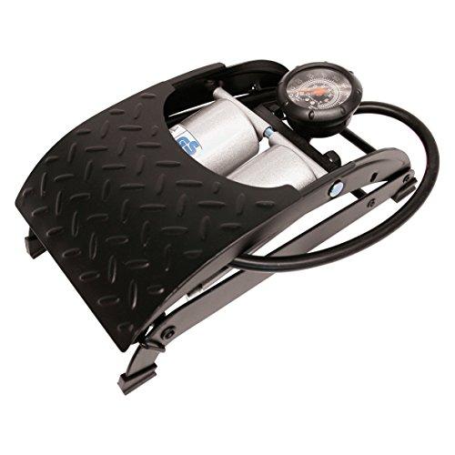 HP-Autozubehör 21352 Premium Doppelzylinder-Fussluftpumpe