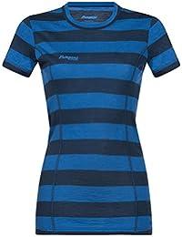 Outdoor Bekleidung Sonstige Outdoor-Bekleidung Bergans Oslo Wool Tee Women Dark Navy 2019 Kurzarmshirt blau