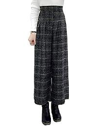 LaoZanA Pantalones De Invierno Cálido para Mujer Pantalón De Trabajo Ancho  Pierna Cintura ... 11306b9771c4