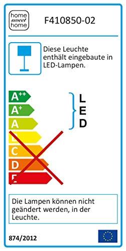 Uplight LED Uplight, hauteur 180 cm Incl. Illuminant à LED de 12,5 W intégré, lampadaire lampadaire Projecteur à LED, feu de position, lampe de salon en or rose [classe énergétique A++]