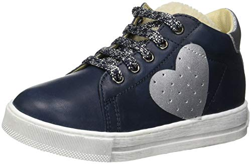 falcotto lauflernschuhe Falcotto Baby Mädchen Heart Sneaker, Blau (Bleu 0c01), 24 EU