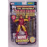 Marvel Legends 6 Inch Series 1 Action Figures - IRON MAN with Bonus of 32 Page Comic Book and Collector Wall Mountable...