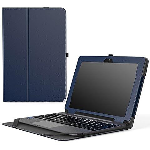 MoKo Etui ASUS Transformer Book T101HA - Etui Fin et Pliable avec Son Dock Clavier pour Tablette ASUS Transformer Book T101HA 10.1 Pouces 2016, Indigo