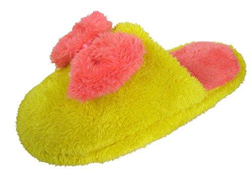 Coolers-Mules Polaire & archet avec doublure en peluche Jaune - jaune
