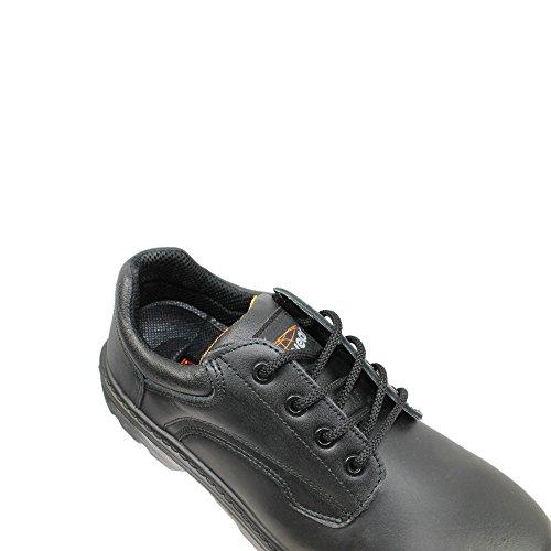 Light Year Pioneer Shoe S3 SRC Sicherheitsschuhe Arbeitsschuhe Berufsschuhe Businessschuhe Trekkingschuhe flach Schwarz Schwarz