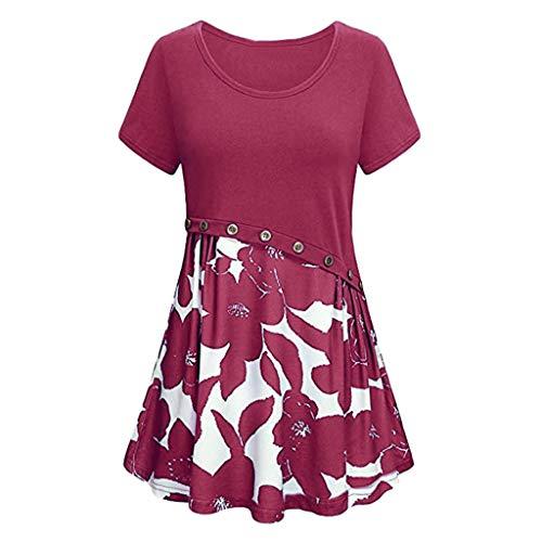 FOTBIMK Damen Kleid Business Kleid Knielang Wickelkleid, 3/4 Arm mit V-Ausschnitt und Gürtel - Galliano Damen-kleidung