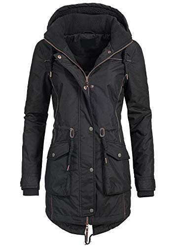 Azuonda Damen Mantel Winterjacke Parka Wintermantel warm Teddyfell Jacke Az97 XS-XXL 2-Farben, Gr