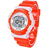 HOT Selling! Children Boys Digital LED Sports Watch Kids Alarm Date Waterproof Watch Gift