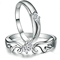 SaySure - 1 piece of 925 Sterling Silver Prince and Princess (SIZE : 9)