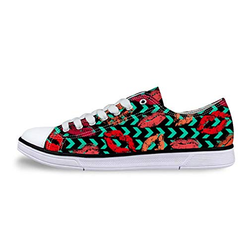 Girls Canvas Shoes Lace-up Low Top Casual Comfort Sneakers Green HB0173AP 7 ()