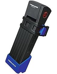 Faltschloss Trelock TWO.GO mit Halter FS200/75 blau m. Halter ZF200, Schlüssel