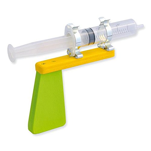 Preisvergleich Produktbild matches21 Wasserspritze Wasserpistole zum Selbstgestalten als Holz Bausatz Bastelset Werkset f. Kinder ab 11 Jahren