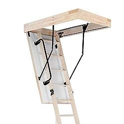 Aurora Thermo Folding Timber Attic / Loft Ladder & Insulated Hatch. 55 x 110cm