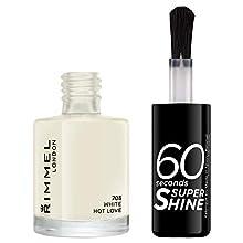Rimmel - Vernis à Ongles 60 Seconds Super Shine - Ultra Brillance et Longue Tenue - Séchage rapide - 703 White Hot Love - 8ml