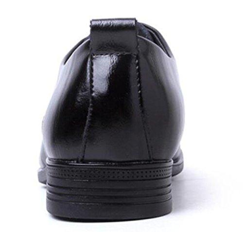Automne En Cuir Version Européenne Basse Côté Dentelle Business Anglais Vent Vêtements En Cuir Chaussures Mâle Noir