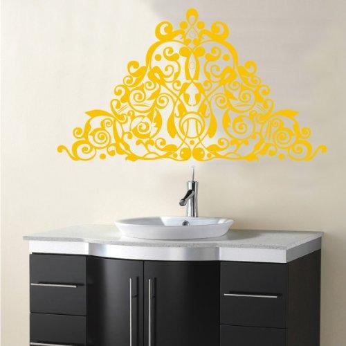 INDIGOS 4052166042963 Wandtattoo W257 Ranken, Ornamente Wandaufkleber 80 x 45 cm, gold