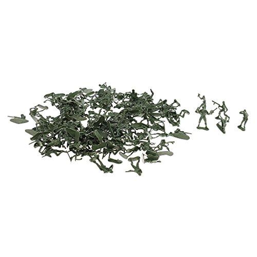 Sharplace 120 Stück Militär Plastik Soldaten 4cm Armee Spielfiguren Geschenke Für Kinder - Armeegrün