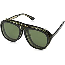 Gucci GG0128S 005, Gafas de sol para Hombre, Negro (Black/Green)