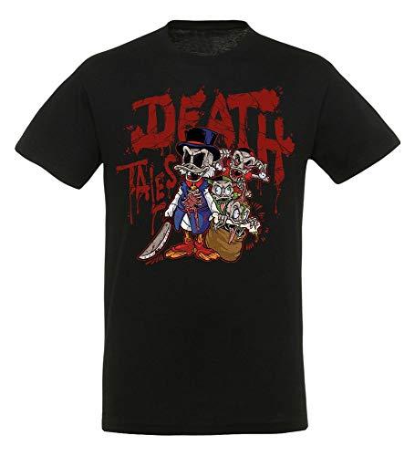 Duck Tales - Death Tales - T-Shirt   Disney   Retro 80er Jahre TV Serie, Größe:3XL (Shirt Knochen-tv)