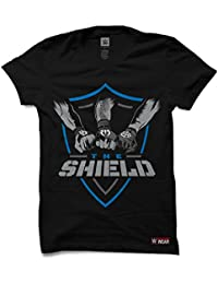 """The Souled Store The Shield """"Shield United"""" Sports Printed Premium BLACK Cotton T-shirt for Men Women and Girls"""