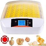 Sailnovo 56 Eier Brutmaschine Vollautomatisch Inkubator Brutapparat Ei Bruter Egg Incubator Motorbrüter Brutgerät mit Temperatur & Feuchtigkeitsregulierung für Hühner Ente Gans Wachtel