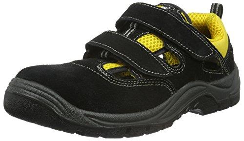 teXXor Sicherheitssandale S1 Romans leichte Arbeitssandale, Größe 42, schwarz, 6115 (Leichte Sandale)