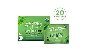 Four Sigmatic - fungo Chaga elisir Mix - 20 pacchetto (i)