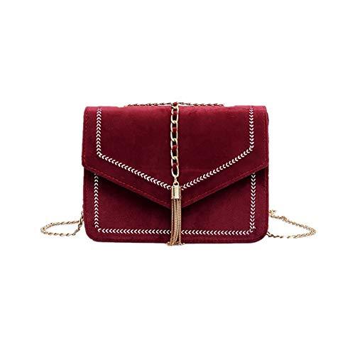 Reasoncool 2018 Damen Handtasche,Frauen Stickerei Linie Quaste Mode Trend Wilde Schultertasche Messenger Tasche,21cm(L) x6cm(W) x15cm(H)