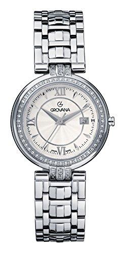 GROVANA 5097,7132 Swiss-Orologio Unisex al quarzo con Display analogico e cinturino in acciaio INOX color argento