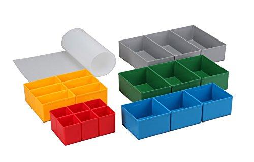 Allit Schubladen-Set rot/gelb/ blau/grün/ grau Europlus Set 63/22, 1 Stück, rot, gelb, blau, grün, Grau, 457370