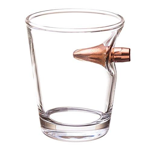 Schnapsglas mit einer echten Gewehr Kugel Kal.308 Real Bullet Shot Glass. Ein echter