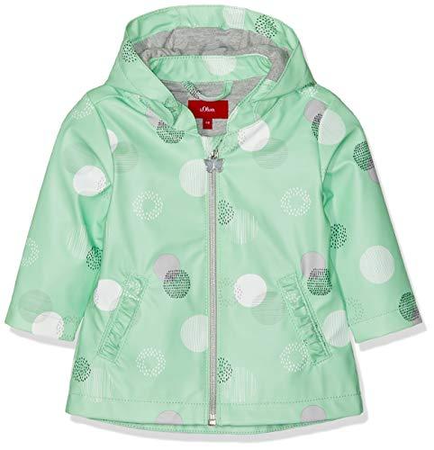 s.Oliver Baby-Mädchen 59.903.52.7056 Mantel, Grün (Green AOP 73a5), Herstellergröße: 92