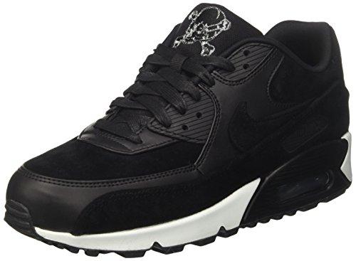 Nike Herren Air Max 90 Premium Sneaker, Schwarz (Black/Chrome-Off White), 44 EU (Nike Herren Air Max 90 Premium)