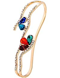 Young & Forever for mom Paradiso Being is Believing Multicolor Crystal Palm Four Finger Ring Bracelet (B55520)