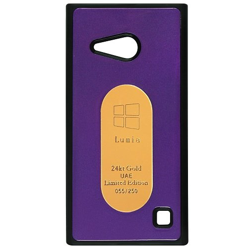 Casotec Metal Back TPU Back Case Cover for Nokia Lumia 730 - Purple  available at amazon for Rs.189